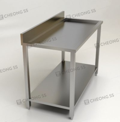 2-TIER INSET WORK TABLE W BACKSPLASH