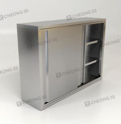 4-TIER OVERHEAD SLIDING DOOR STORAGE CABINET