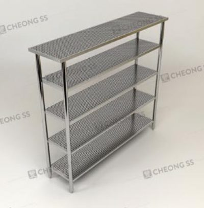 5-TIER PERFORATED UPRIGHT SHELVING RACK