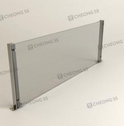 BOLT-ON SQUARE TUBE GLASS SNEEZE GUARD