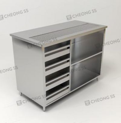 COFFEE MAKING COUNTER W DRAWER COMPARTMENT