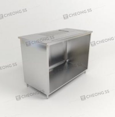 COFFEE MAKING COUNTER W HEATER COMPARTMENT