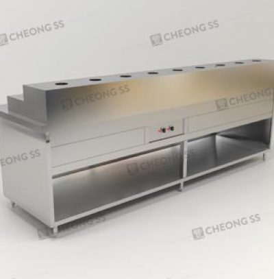 COUNTER ECONOMICAL RICE FOOD WARMER OPEN CABINET