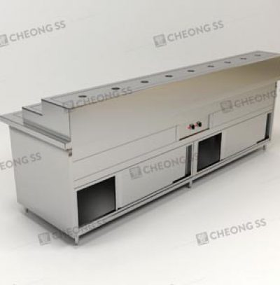 COUNTER ECONOMICAL RICE FOOD WARMER SLIDING DOOR CABINET