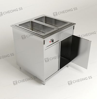 DOUBLE FULL-SIZE GN BAIN MARIE W OPEN DOOR