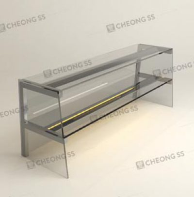 DOUBLE TIER GLASS DISPLAY SHOW CASE DESIGN 02