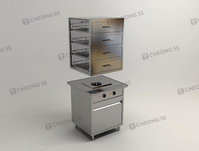 Cheong SS | Electrical Quadruple Deck Glass Bun Steamer Display ...