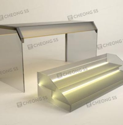 GLASS 2-DECK YONG TAU FOO DISPLAY SHOWCASE DESIGN 01