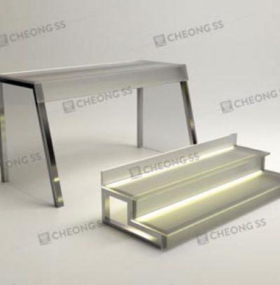 GLASS 2-DECK YONG TAU FOO DISPLAY SHOWCASE DESIGN 02