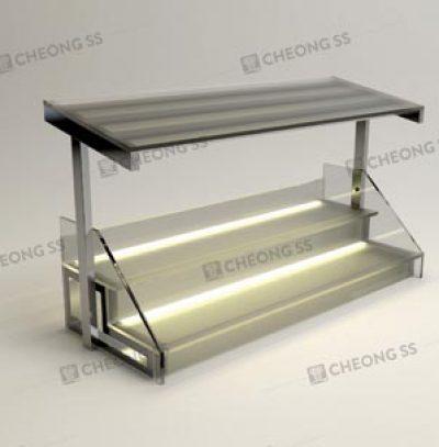 GLASS 2-DECK YONG TAU FOO DISPLAY SHOWCASE DESIGN 03