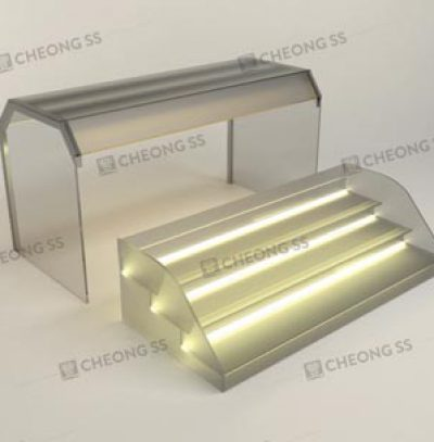 GLASS 3-DECK YONG TAU FOO DISPLAY SHOWCASE DESIGN 01