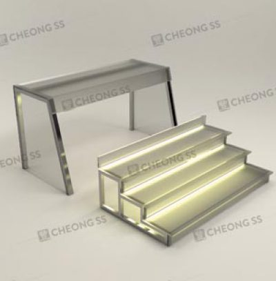 GLASS 3-DECK YONG TAU FOO DISPLAY SHOWCASE DESIGN 02