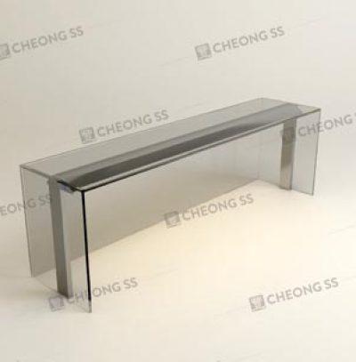GLASS BOX DISPLAY SHOWCASE WITH LIGHTING STRIP