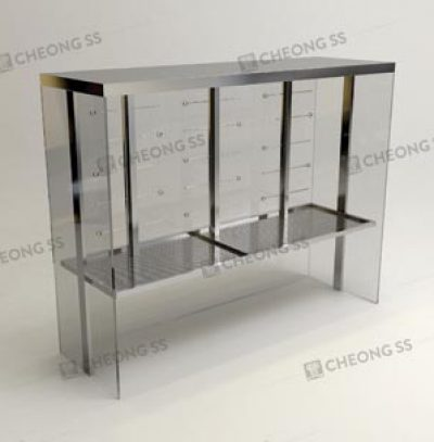 GLASS POULTRY DISPLAY SHOWCASE DESIGN 01