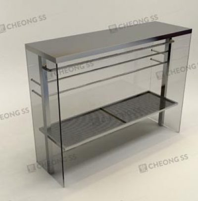 GLASS POULTRY DISPLAY SHOWCASE DESIGN 02