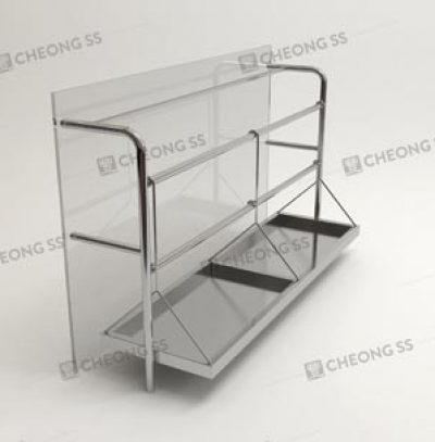 GLASS POULTRY DISPLAY SHOWCASE DESIGN 03