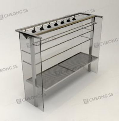 GLASS POULTRY DISPLAY SHOWCASE DESIGN 04