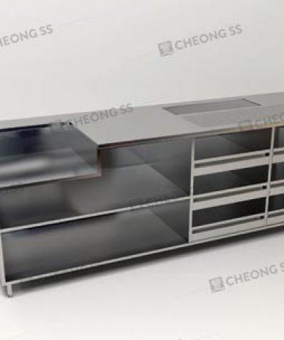Cheong Ss Stainless Steel Coffee Making Counter