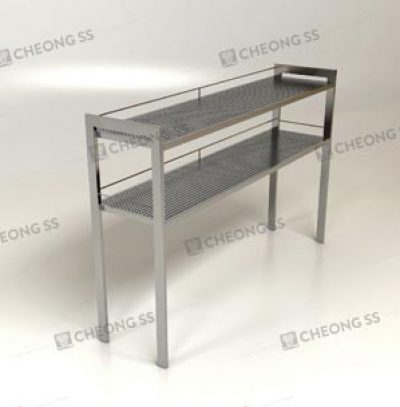 PERFORATED COUNTER-TOP SHELVING RACK