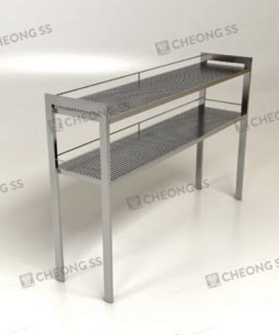 Cheong SS Stainless Steel Countertop Shelving Rack - Stainless steel table top shelves