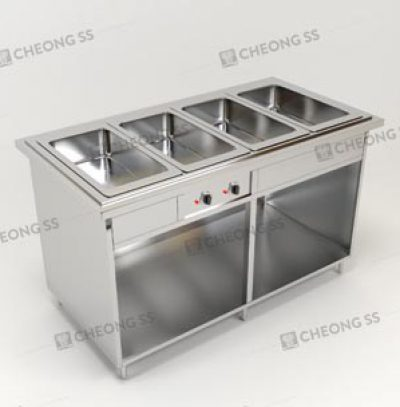 QUADRUPLE FULL-SIZE GN BAIN MARIE