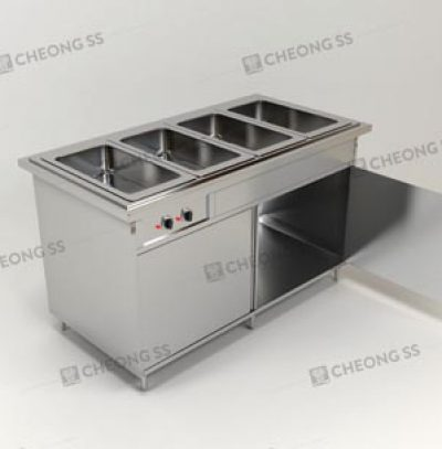 QUADRUPLE FULL-SIZE GN BAIN MARIE W OPEN DOOR