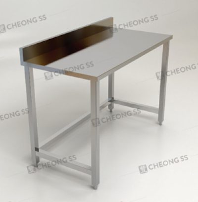 SINGLE TIER WORK TABLE W BACKSPLASH