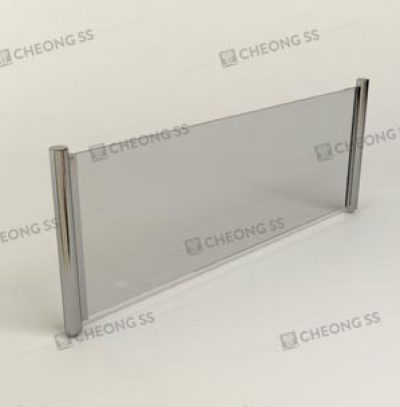 SLOT-IN ROUND TUBE GLASS SNEEZE GUARD
