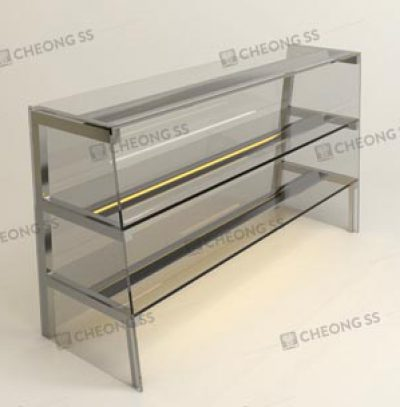 TRIPLE TIER GLASS DISPLAY SHOW CASE DESIGN 02