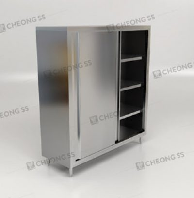Cheong Ss Upright Sliding Door Storage Cabinet