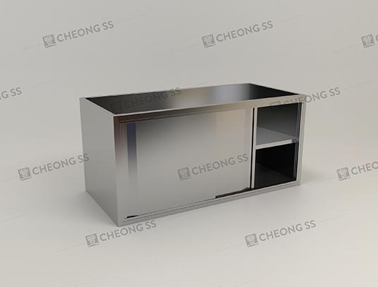 2-tier Sliding Door Counter Storage Cabinet & Cheong SS | 2-tier Sliding Door Counter Storage Cabinet pezcame.com