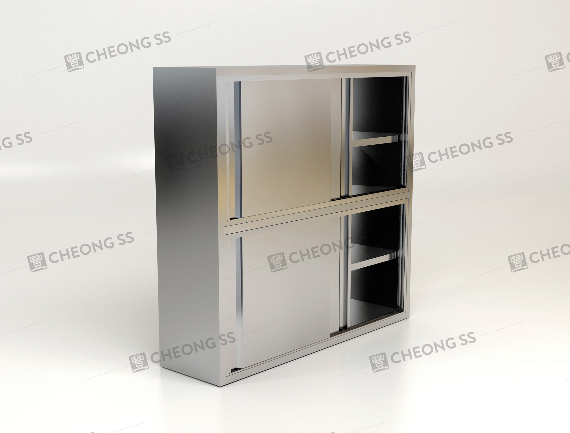 Storage Cabinet Sliding Doors Cheong Ss 5 Tier 22 Sliding Door Storage Cabinet