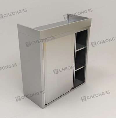 3-TIER OVERHEAD 2 SLIDING DOOR SORAGE COMPARTMENT