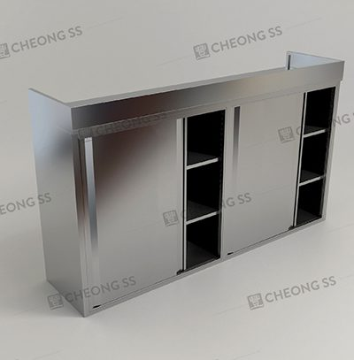 3-TIER OVERHEAD 4 SLIDING DOOR STORAGE COMPARTMENT