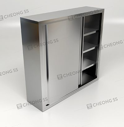 5 Tier 2 Sliding Door Storage Cabinet