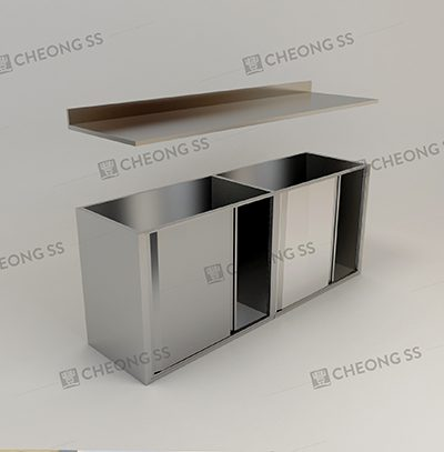 SINGLE TIER UNDER TABLE 4 SLIDING DOOR STORAGE CABINET1